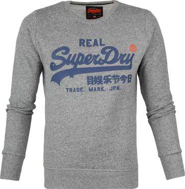 Superdry Sweater Melange Grijs