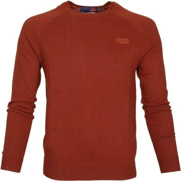 Superdry Sweater Melange Red Orange