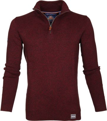 Superdry Sweater Melange Red Zipper