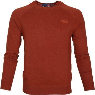 Superdry Sweater Melange Rot Orange