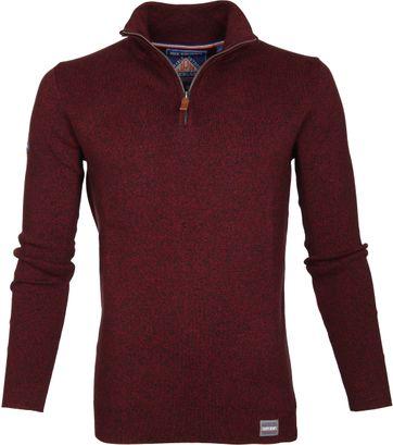 Superdry Sweater Melange Rot Reißverschluß