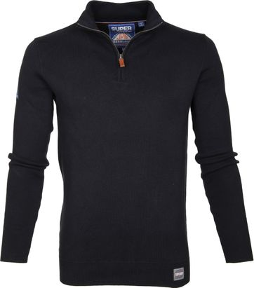 Superdry Sweater Navy Rits