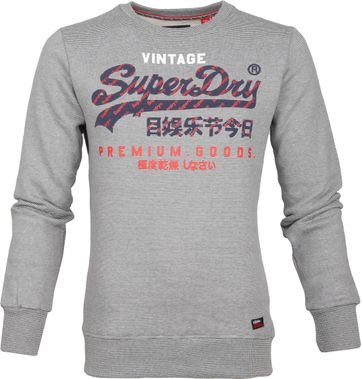 Superdry Sweater Racer Streep Grijs