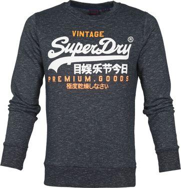 Superdry Sweater Tri Print Navy