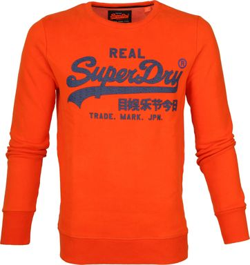 Superdry Sweater Vintage Oranje
