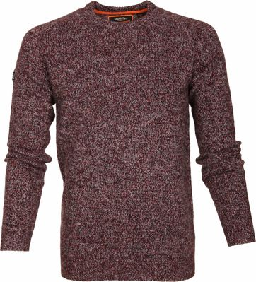 Superdry Sweater Wol Bordeaux