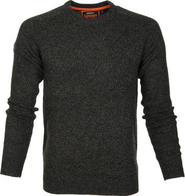 Superdry Sweater Wol Donkergroen