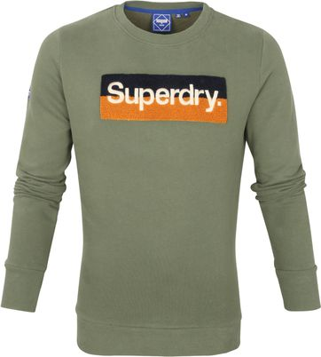 Superdry Sweater Workwear Dunkelgrün
