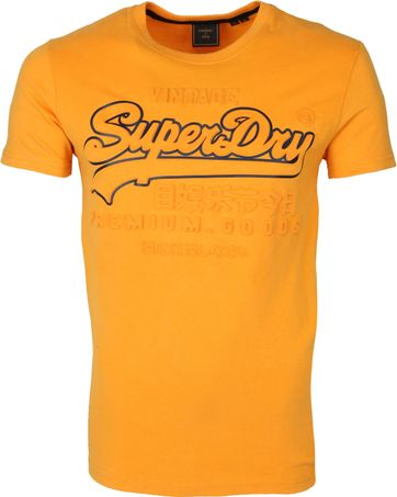 Superdry T-shirt Alaska Oranje