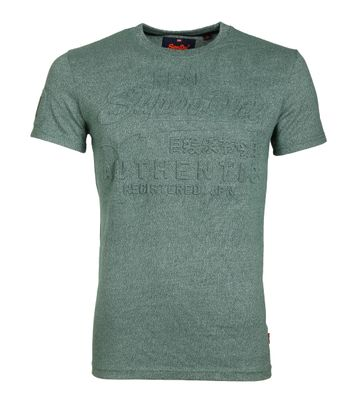 Superdry T-Shirt Authentic Embossed Groen