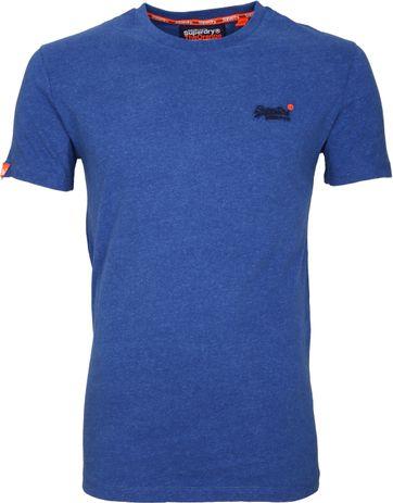 Superdry T-Shirt Cobalt Blauw