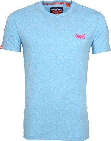 Superdry T-Shirt Fluro Blau