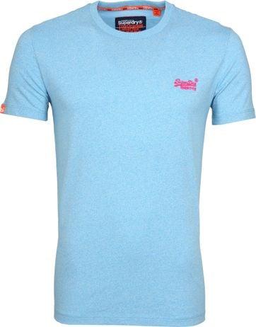 Superdry T-Shirt Fluro Blauw