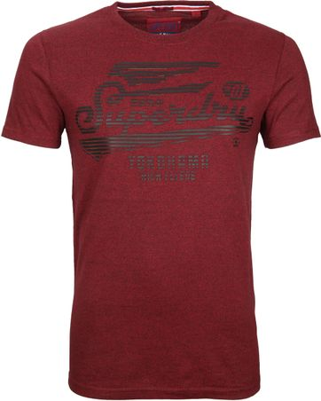 Superdry T-Shirt Flyers Bordeaux
