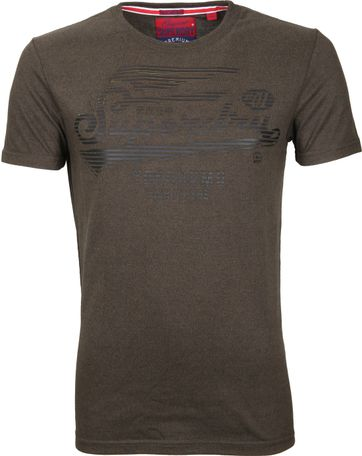 Superdry T-Shirt Flyers Dark Green