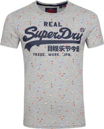 Superdry T-Shirt Ice Cream Grey