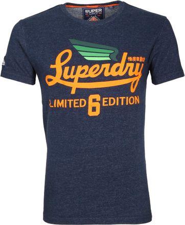 Superdry T-Shirt Logo Dunkelblau