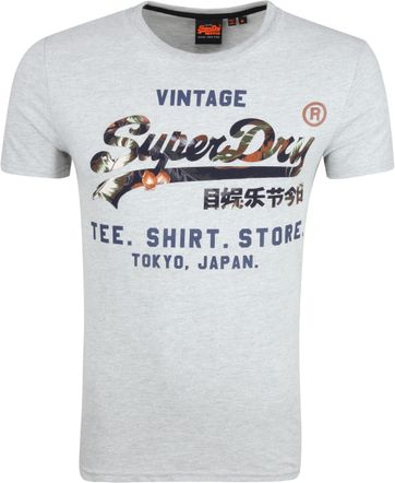 Superdry T-shirt Logo Grijs