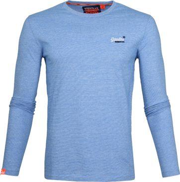 Superdry T-Shirt Longsleeve Blau