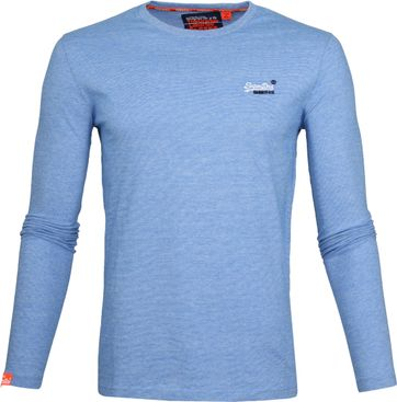 Superdry T-Shirt Longsleeve Blue