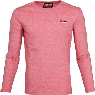 Superdry T-Shirt Longsleeve Rood