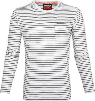 Superdry T-Shirt Longsleeve Weiß