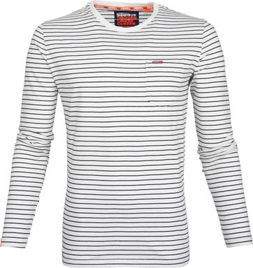 Superdry T-Shirt Longsleeve Wit