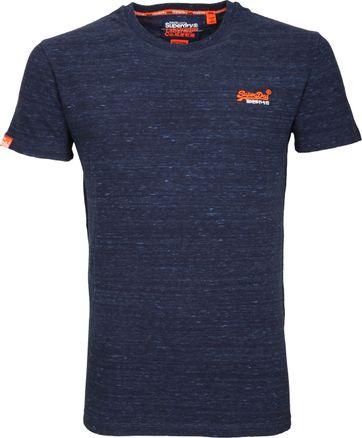 Superdry T-Shirt Melange Dunkelblau