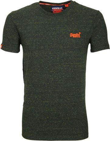 Superdry T-Shirt Melange Dunkelgrün