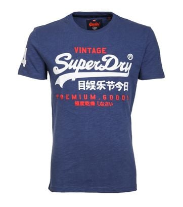 Superdry T-Shirt Premium Goods Blau