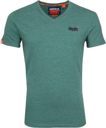 Superdry T-Shirt V-hals Grün