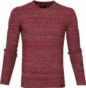 Superdry Upstate Pullover Melange Red