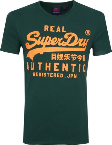 Superdry Vintage Authentic T-Shirt Grün