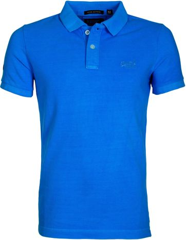 Superdry Vintage Destroyed Polo Blauw