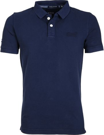 Superdry Vintage Destroyed Polo Navy