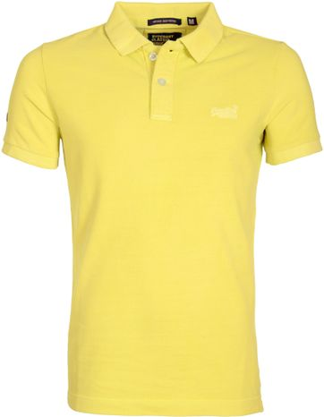 Superdry Vintage Destroyed Polo Yellow