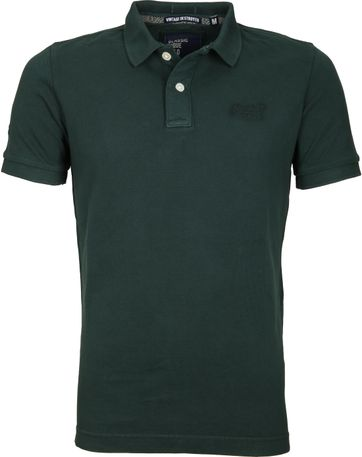 Superdry Vintage Polo Donkergroen