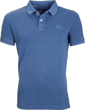 Superdry Vintage Poloshirt Blau