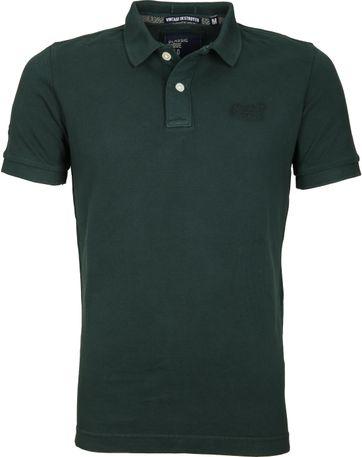 Superdry Vintage Poloshirt Dunkelgrün