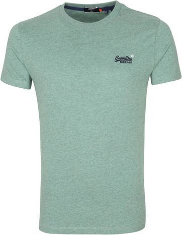 Superdry Vintage T Shirt EMB Green