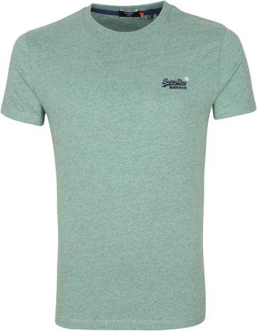 Superdry Vintage T Shirt EMB Grün