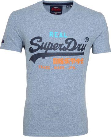 Superdry Vintage T-Shirt Logo Grau