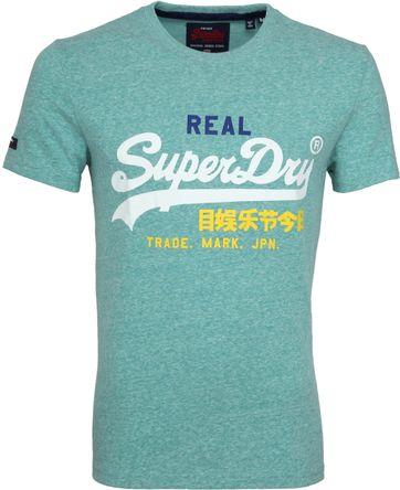 03e7df5fe2c800 Superdry Vintage T-Shirt Logo Groen