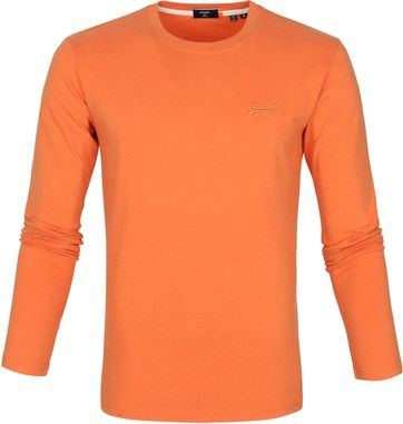 Superdry Vintage T Shirt LS EDM Orange