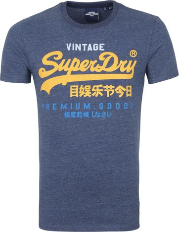 Superdry Vintage T Shirt TRI 220 Navy
