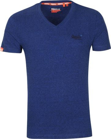 Superdry Vintage T Shirt V-Neck Dark Blue
