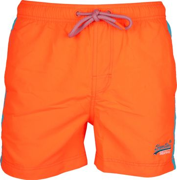 Superdry Zwembroek Beach Volley Neon Oranje
