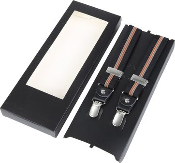 Suspenders Black Brown