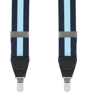 Suspenders Navy Blue Stipe