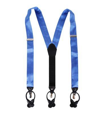 Suspenders Silk Blue F05